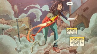 Illustration for article titled Why Ms Marvel Is One Of Comics' Most Interesting Discourses On Violence