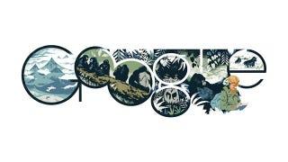 Illustration for article titled Dian Fossey és a Virunga-tűzhányók a Google címlapján