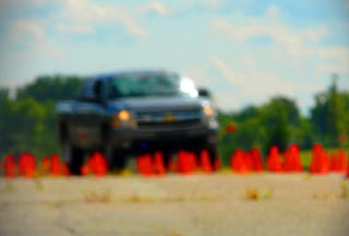 Illustration for article titled Jalopnik 2009 Pickup Truck Comparison Challenge: Auto Cross