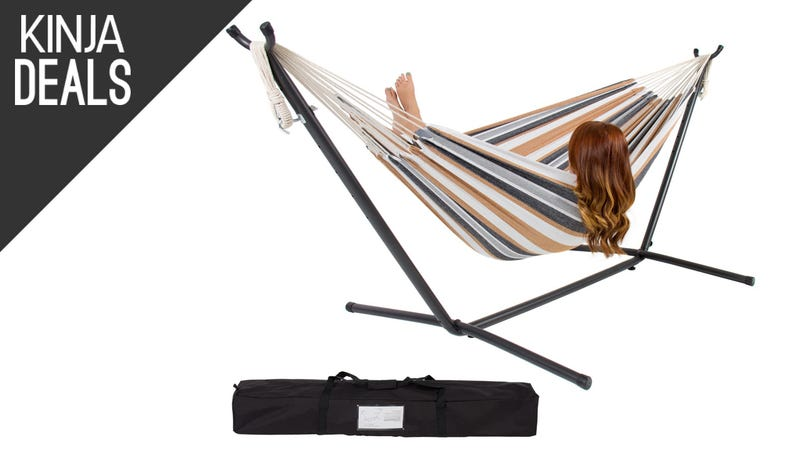 Illustration for article titled Escape All of Your Troubles with This $80 Hammock and Stand