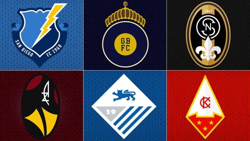 Illustration for article titled NFL Logos As European Soccer Badges, Part II