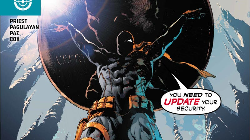 Illustration for article titled Deathstroke takes the fight to Wayne Manor in this exclusive preview