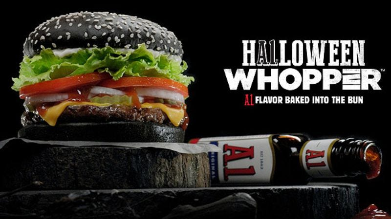 Illustration for article titled Read This: Here's why the BK Halloween Whopper will turn your poop green