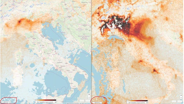 Satellites Show Italy s Air Pollution Dissipating as Covid-19 Outbreak Worsens