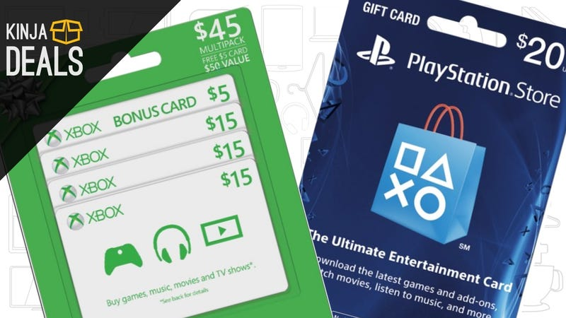 Illustration for article titled Buy One Gaming Gift Card, Get 20% Off Another