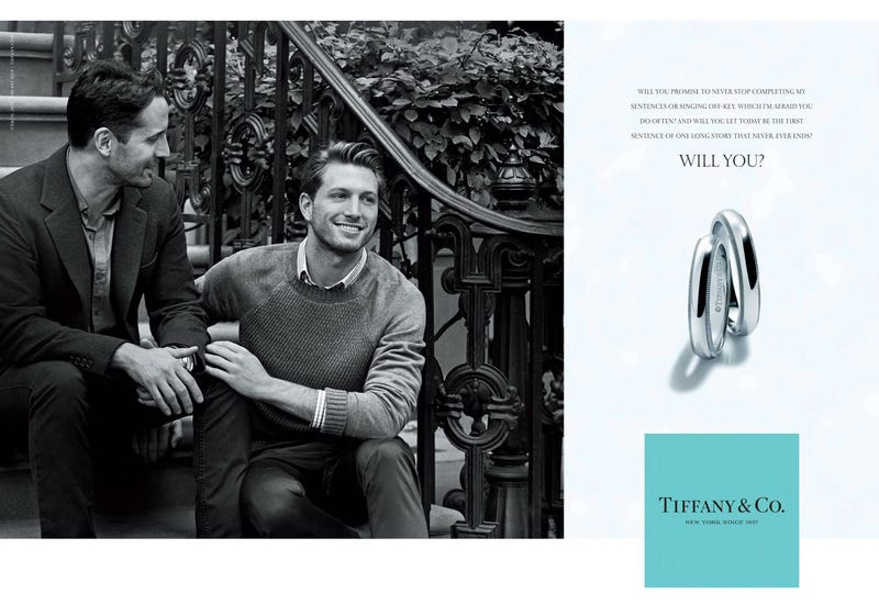 Illustration for article titled Tiffany & Co's New Gay Engagement Campaign Features Real Gay People