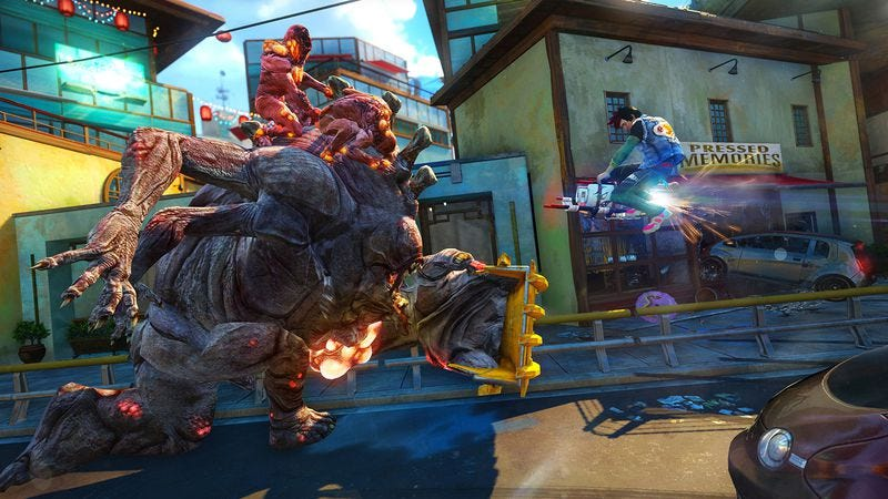 Illustration for article titled The punk-rock-loving Sunset Overdrive just reinforces the status quo