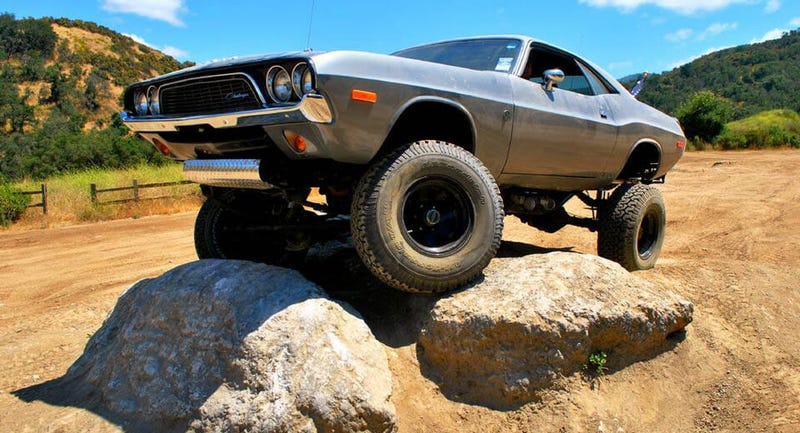 Illustration for article titled This 4x4 '72 Dodge Challenger Is Your War Chariot To Valhalla