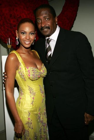 Beyoncé and her father, Mathew Knowles, in New York City in 2005Frank Micelotta/Getty Images
