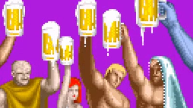 Illustration for article titled After a deadly serious quest, Altered Beast's ending let us in on the joke