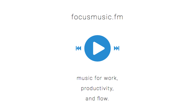 Focusmusic.fm Is Simple, Minimal, and Streams Music to Work To