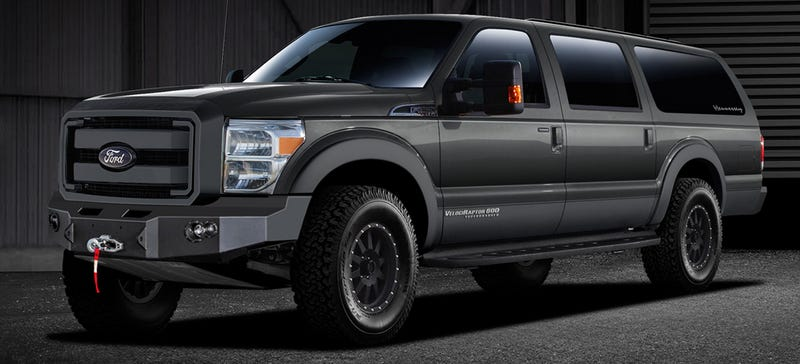 The  Hennessey Velociraptor Suv Takes The Current Ford F  And Turns It Into An Eight Seat Ass Hauler With A Front Bumper Like Quagmires Chin And A