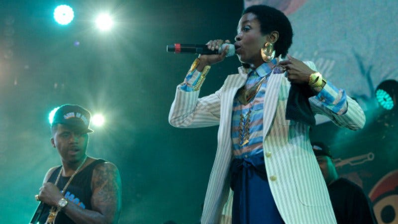 Nas and Lauryn Hill performing together in 2012 (Photo: Ilya S. Savenok/Getty Images)