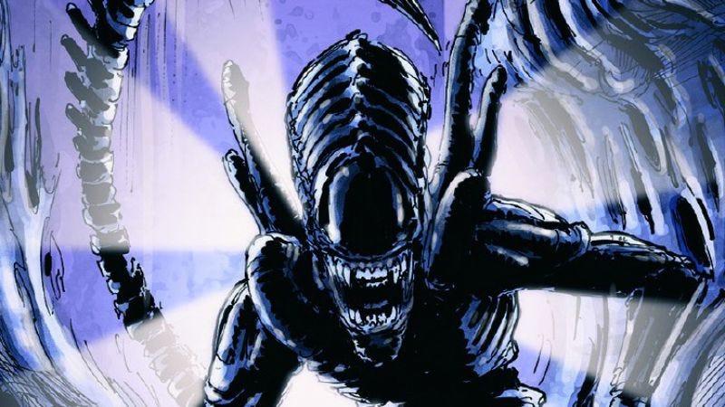 Xenomorph art from Legendary Encounters: An Alien Deck-Building Game