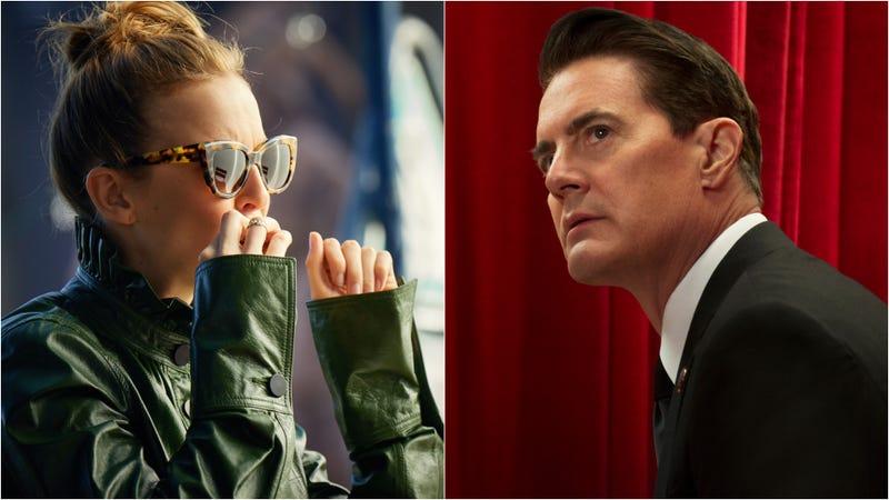 Jodie Comer in Killing Eve (left) and Kyle MacLachlan in Twin Peaks