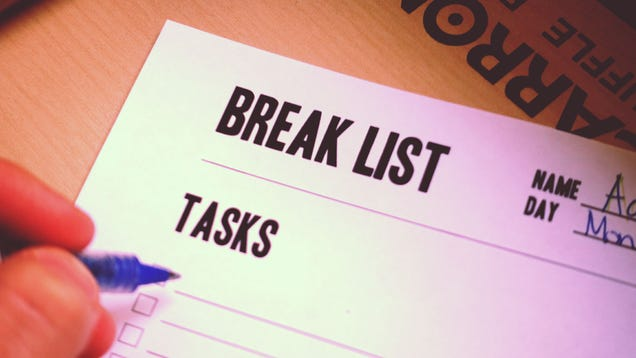 "Swap Your To-Do List for a ""Break List"" to Get More Done"
