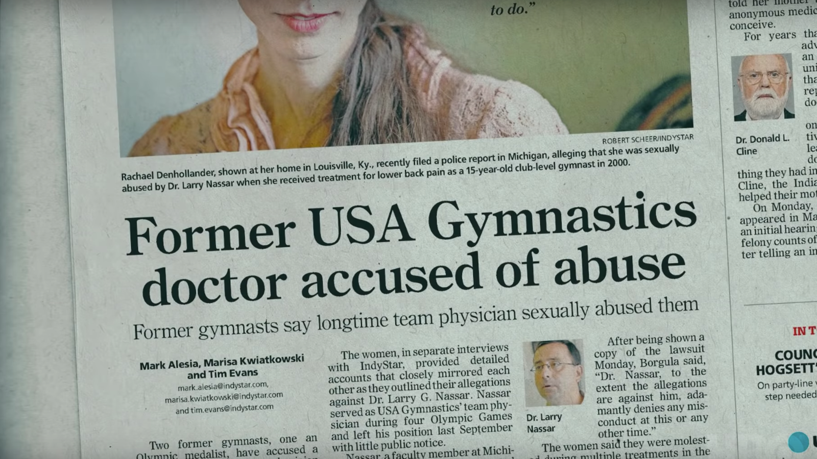 Director Erin Lee Carr On Her Gymnastics Abuse Documentary AT THE
