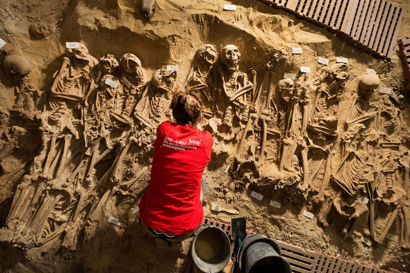 Illustration for article titled 200 Skeletons Have Been Discovered Beneath A Supermarket In Paris