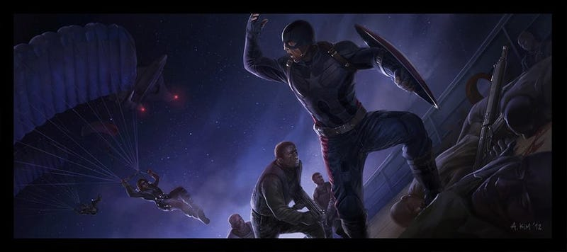Illustration for article titled New Concept Art Shows the Dark Beauty of the Marvel Universe