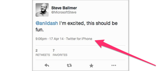 Illustration for article titled Looks Like Steve Ballmer's First Tweets Are From an iPhone (Updated)