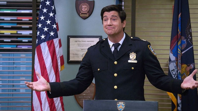 Illustration for article titled On Brooklyn Nine-Nine, a new Captain's in, as Jake and Holt try to get out