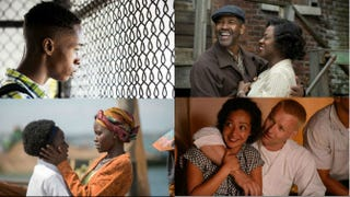Top row: Ashton Sanders in Moonlight; Denzel Washington and Viola Davis in Fences. Bottom row: Madina Nalwanga and Lupita Nyong'o in Queen of Katwe; Ruth Negga and Joel Edgerton in Loving.Top row: David Bornfriend; Paramount Pictures. Bottom row: Disney; Focus Features.