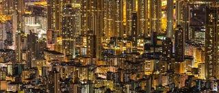 Illustration for article titled ¿Dónde empiezan y dónde acaban los edificios en esta foto de Hong Kong?