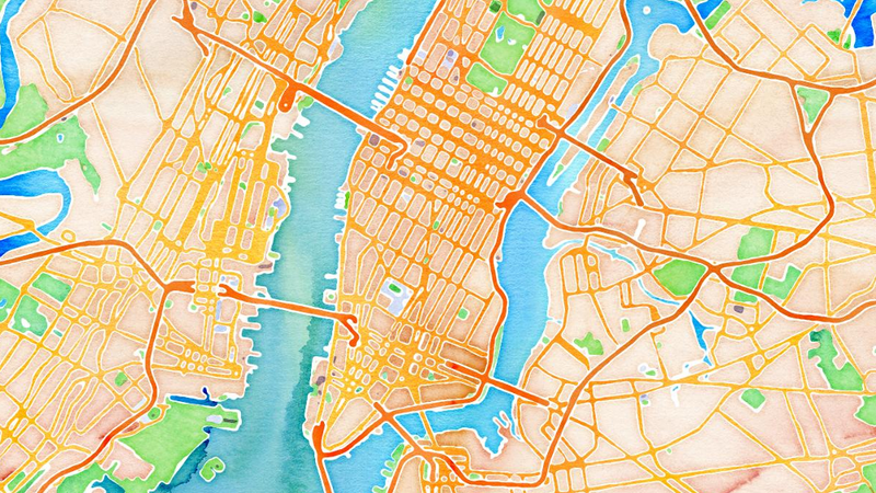 Illustration for article titled We All Live in a Watercolor With These New OpenStreetMap Skins