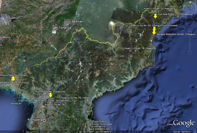 Illustration for article titled Uno de los peores secretos de Corea del Norte, desvelado en Google Earth