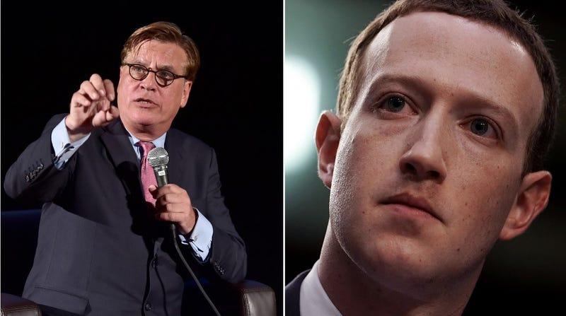"Illustration for article titled Aaron Sorkin to Mark Zuckerberg: ""Facebook isn't defending speech, it's assaulting truth"""
