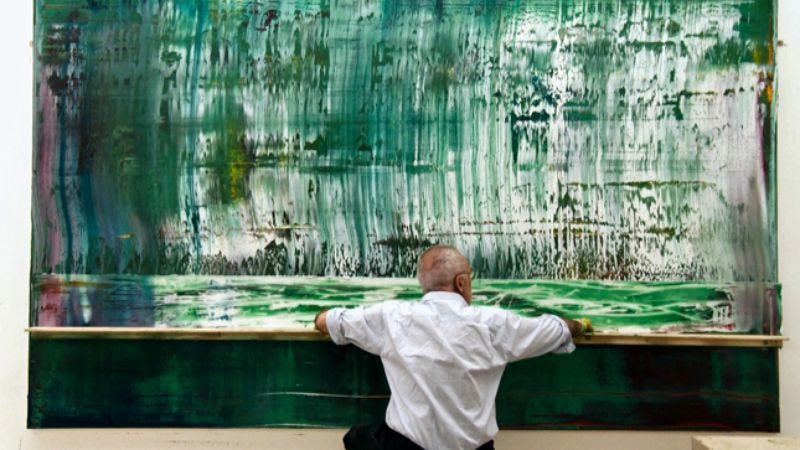 Illustration for article titled Gerhard Richter Painting