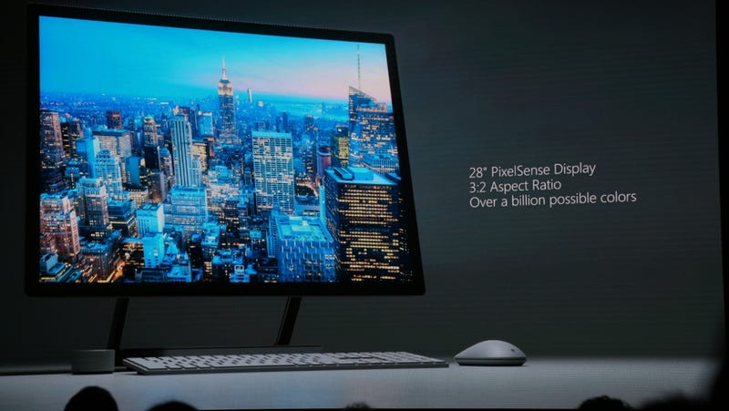 Illustration for article titled Microsoft's Beautiful Surface Studio Is Coming to Kill the Desktop PC as We Know It
