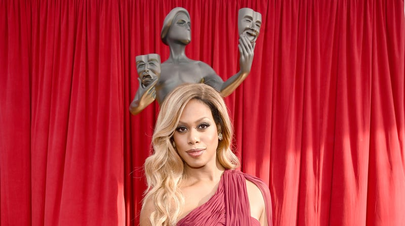 Actress Laverne Cox attends The 22nd Annual Screen Actors Guild Awards at The Shrine Auditorium