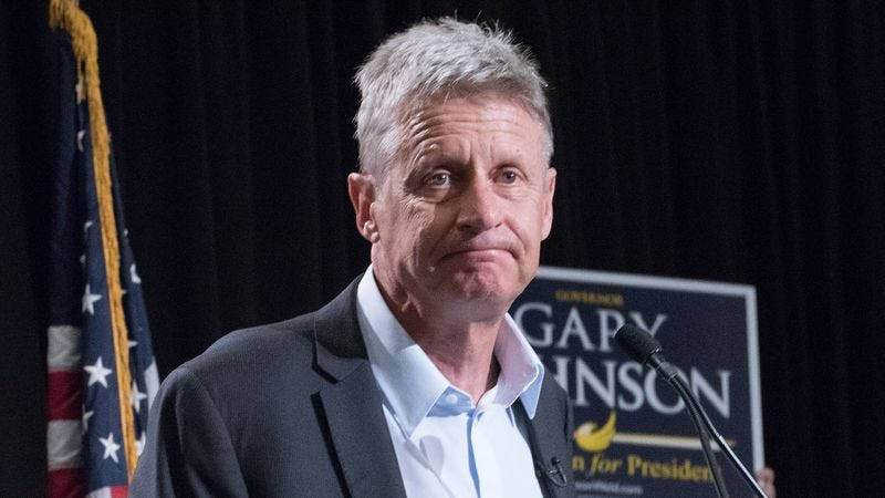 Illustration for article titled Gary Johnson Worried He Peaking Too Early After Hitting 9% In Polls