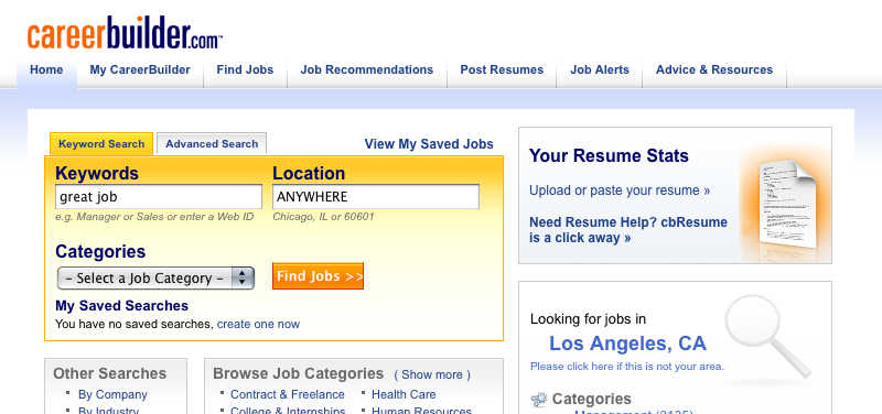 Careerbuilder Resume Search mediaproxyurlhttp3a2f2fthehiringsitecareerbuildercom Five Best Online Job Search Sites
