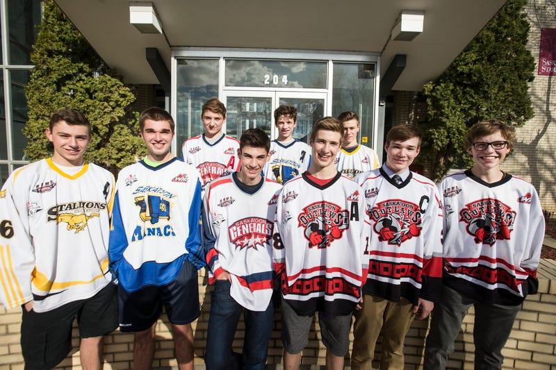 Pictured: the Saskatoon Minor Hockey Association class of 2017. L-R: Cohner, James, Ethan, Boston, Graham, Kaeden, Alec, Logan, Josh.