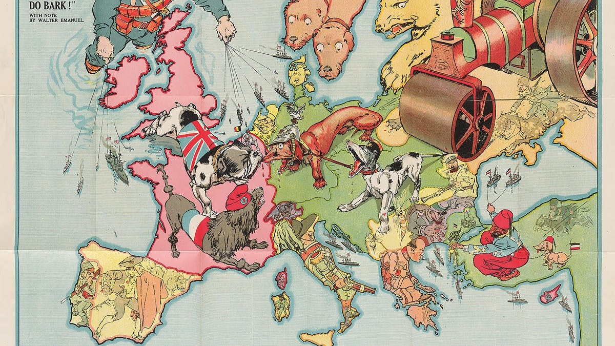 21 bizarre maps that depict nations as animals people and monsters gumiabroncs Images