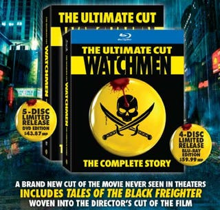 Illustration for article titled Watchmen Ultimate Cut Trumps Director's Cut, Comes Spliced With Black Freighter Footage