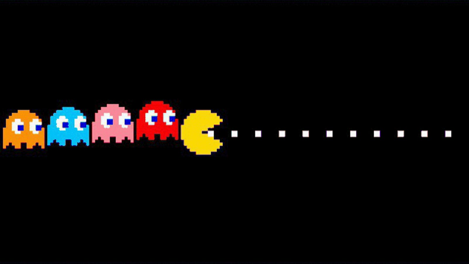 This is a graphic of Magic Pictures of Pacman Ghosts
