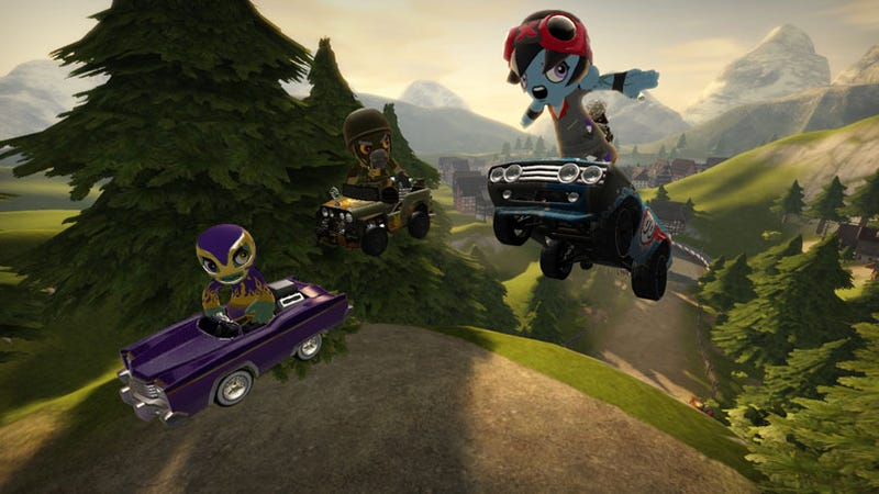 Illustration for article titled ModNation Racers Impressions: LittleBigRacer