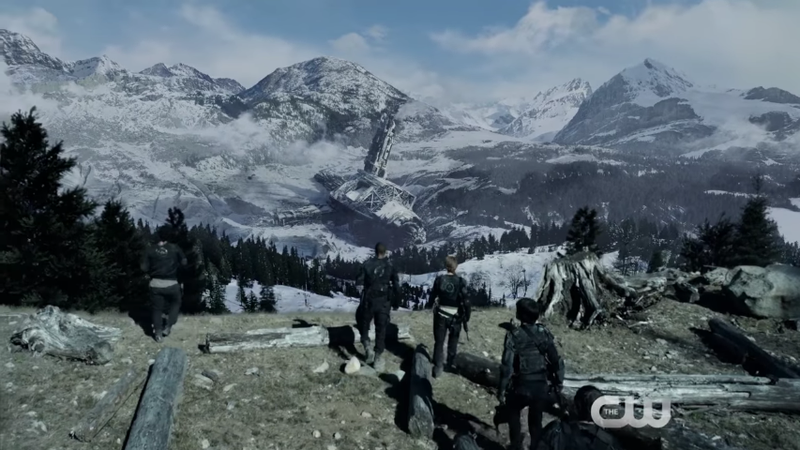 Image: Screencap from the trailer of The 100, The CW