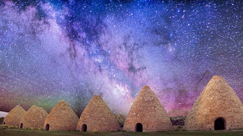 Illustration for article titled Abandoned Pyramids Meet the Majesty of the Milky Way