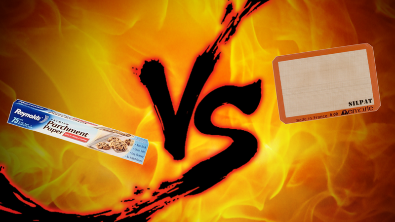 Illustration for article titled Non-Stick Baking Showdown: Parchment Paper vs. Silicone Baking Mats