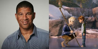 Director Peter Ramsey; a screenshot from Rise of the Guardians (Paramount Pictures)