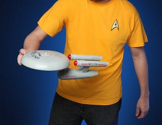 Illustration for article titled You Can Now Buy a Real USS Enterprise Frisbee