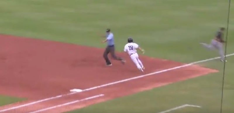 What Do We Think Happened In Right Field On This Bunt Home Run?