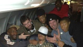 Illustration for article titled Michael Beasley Was Lucky To Leave The T-Wolves' Team Plane With His Eyebrows