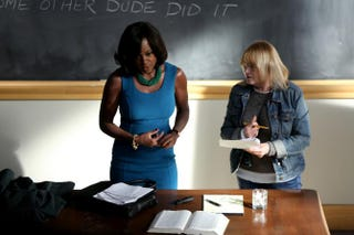 "Season 2's ""Who shot Annalise?"" (played by Viola Davis, left) plot on How to Get Away With Murder keeps adding up suspects.ABC/John Fleenor"