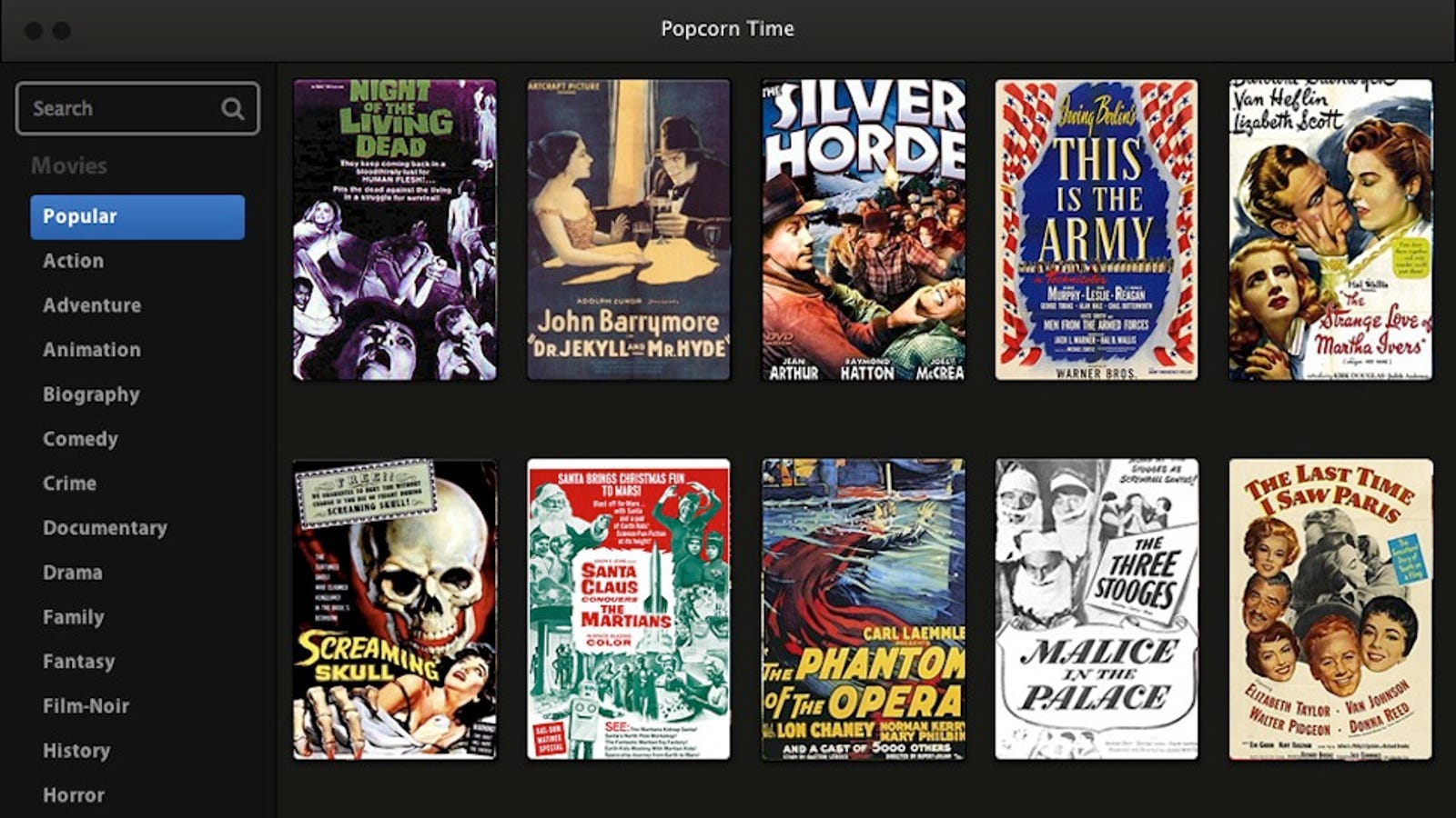 Popcorn Time Streams Movie Torrents from a Huge Library