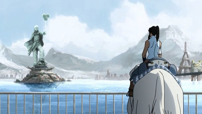 """Illustration for article titled The Legend Of Korra: """"Welcome To Republic City""""/""""A Leaf In The Wind"""""""